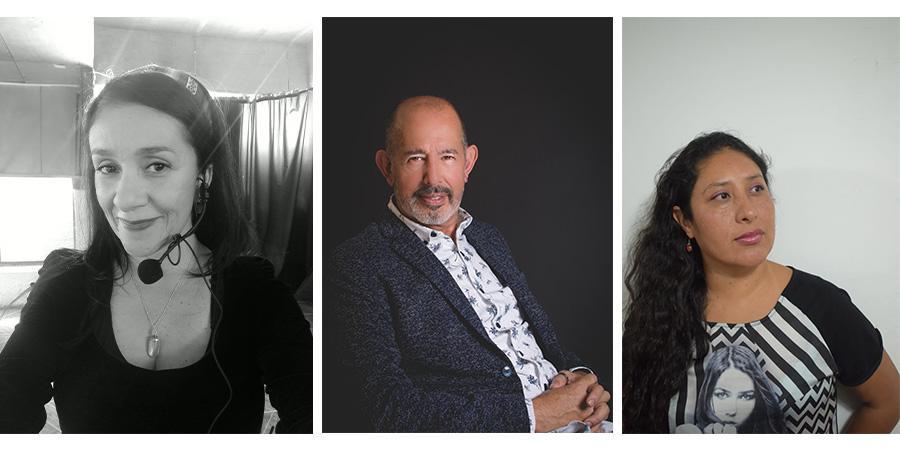 Sol Salgado, Gisella Villalobos y Guillermo Ward