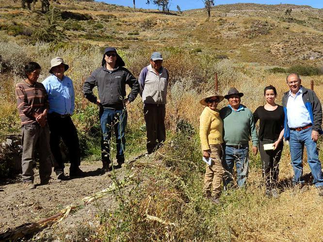 Comunidad de agricultores de Tumbo en Chiapa