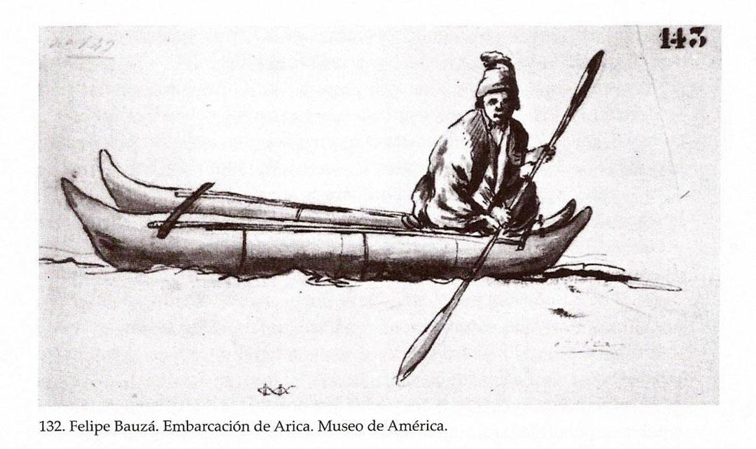 Bauzá--dibujo-balsero--en-balsa-cuero-lobo-marino-en-Arica-2