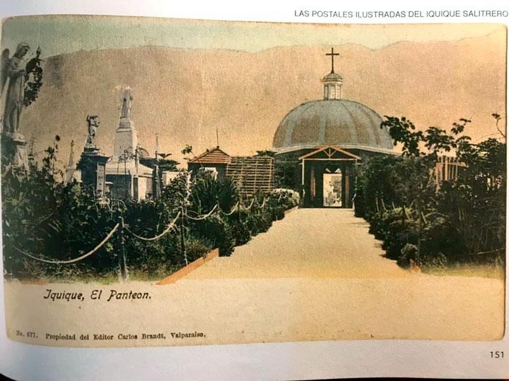 Postal-1884-Panteón-Católico